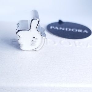 Pandora Mickey Mouse Thumbs Up Charm Silver New